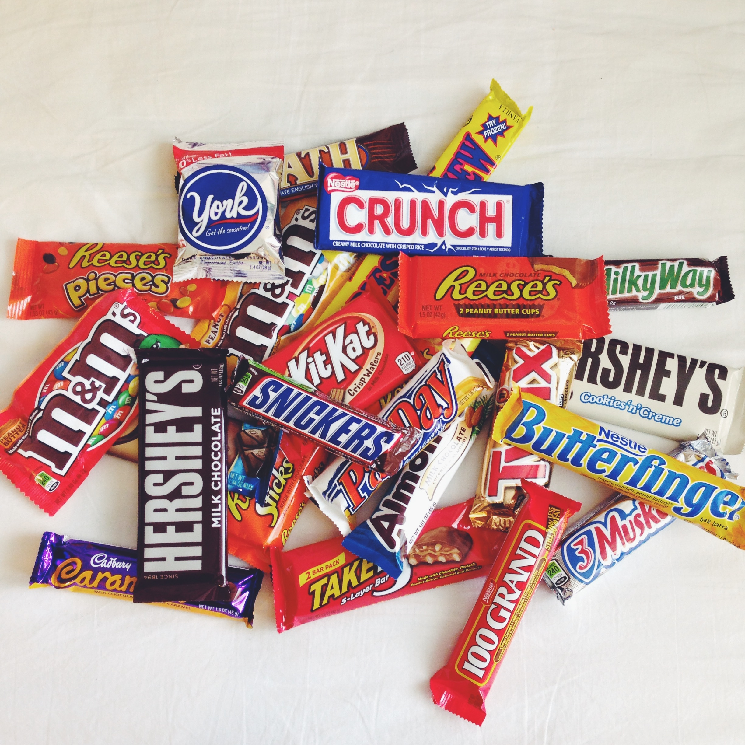 Chocolate candy bars brands